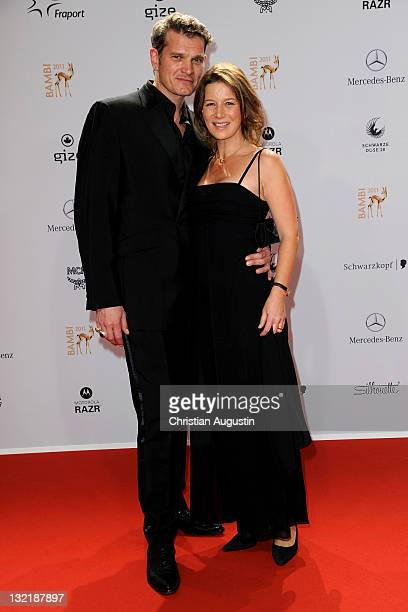 Sabine and Goetz Otto attend the Red Carpet for the Bambi Award 2011 ceremony at the RheinMainHallen on November 10 2011 in Wiesbaden Germany
