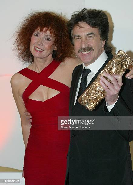 Sabine Azema and Francois Cluzet during 32nd Cesar Awards Ceremony - Press Room at theatre du chatelet in Paris, France.