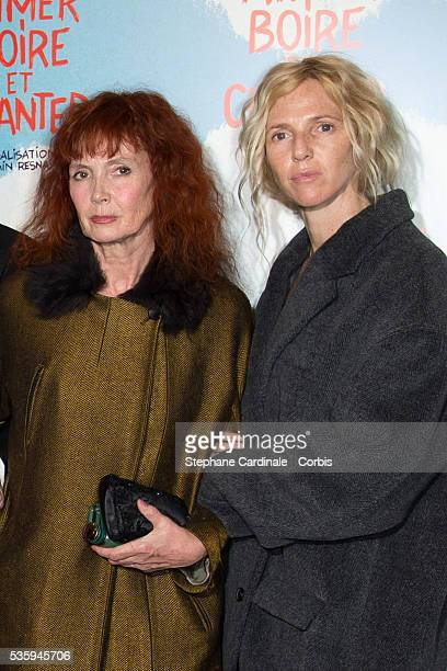 Sabine Azema and Sandrine Kiberlain attend the premiere of 'Aimer Boire et Chanter' in Paris