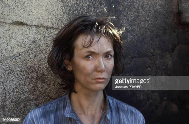 Sabine Azéma sur le film 'Zone Rouge' réalisé par Robert Enrico le 3 novembre 1985 France