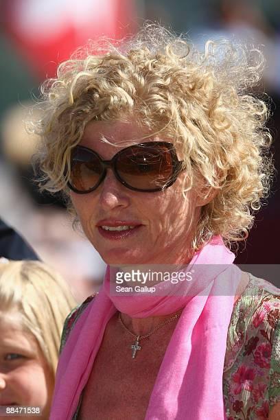Sabine BeckerSchorp sister of former tennis star Boris Becker attends the wedding brunch reception of newlyweds Boris Becker and Sharlely Becker at...