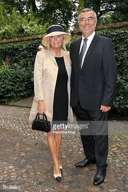 Sabine Christiansen and Norbert Medus attend the Church Wedding of Florian and Miriam Langenscheidt at Friedenskirche on September 8 2012 in Potsdam...