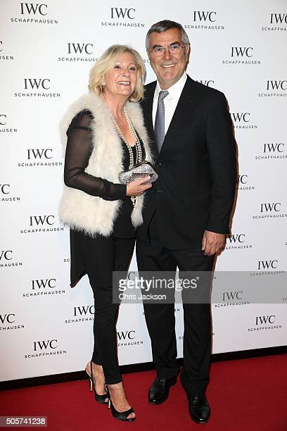 Sabine Christiansen and Norbert Medus attend the IWC 'Come Fly With Us' Gala Dinner during the launch of the Pilot's Watches Novelties from the Swiss...
