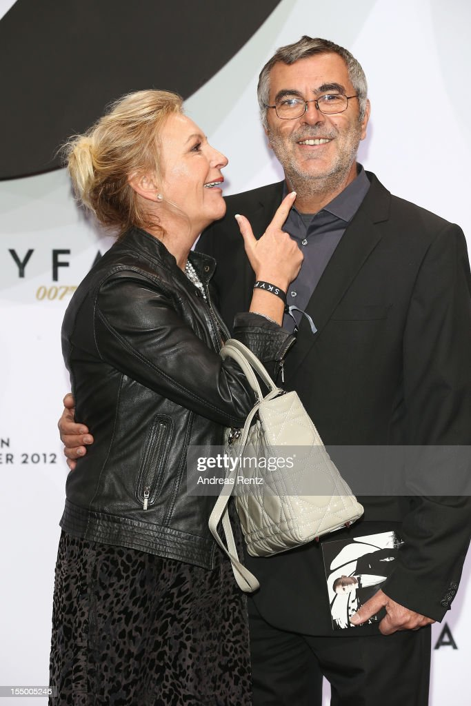Sabine Christiansen and partner Norbert Medus attend the 'Skyfall' Germany premiere at Theater am Potsdamer Platz on October 30, 2012 in Berlin, Germany.