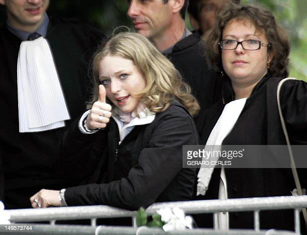Sabine Dardenne one of the Marc Dutroux's victims is pictured at the Arlon's assize court during the last day in the trial of Marc Dutroux 22 June...
