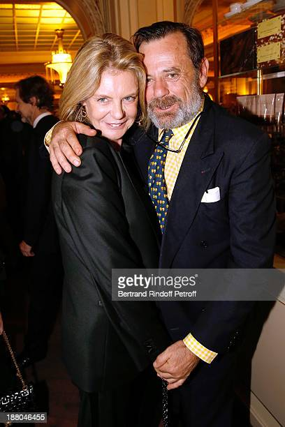 Sabine de Gunzburg and Louis Benech attend the 50th Anniversary party of Stephane Bern called Half a century it's party celebrated at Angelina on...