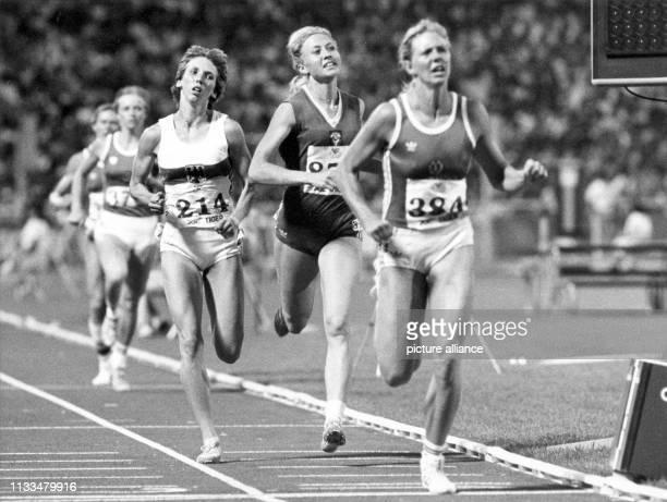 Sabine Everts beim 800MeterLauf Sabine Everts hat den totalen Triumph der DDRSiebenkämpferinnen am verhindert Hinter Weltrekordlerin Ramona Neubert...