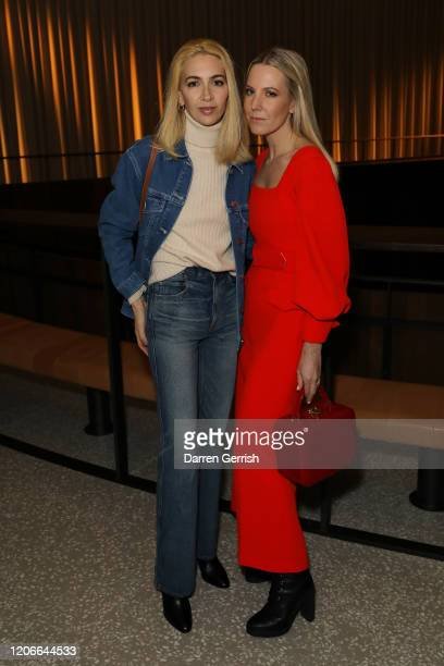 Sabine Getty and Alice NaylorLeyland attend the Emilia Wickstead show during London Fashion Week February 2020 on February 16 2020 in London England