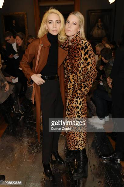 Sabine Getty and Alice NaylorLeyland attend the Erdem show during London Fashion Week February 2020 on February 17 2020 in London England