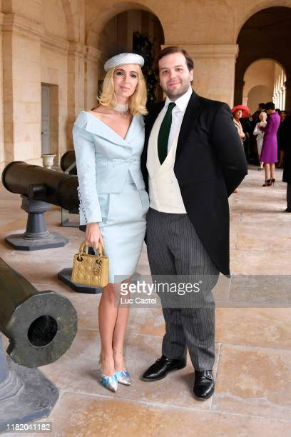 Sabine Getty and Joseph Getty attend the Wedding of Prince JeanChristophe Napoleon and Olympia Von ArcoZinneberg at Les Invalides on October 19 2019...