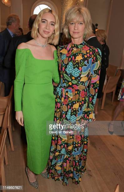 Sabine Getty and Nicola Formby attend a dinner hosted by Skye Gyngell and the Trustees of Action on Addiction to celebrate Addiction Awareness Week...