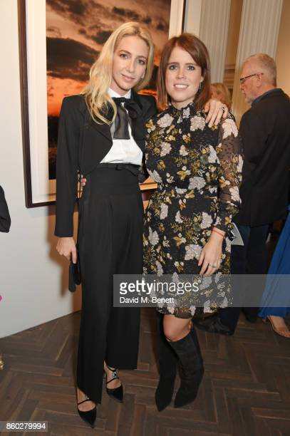 Sabine Getty and Princess Eugenie of York attend the Warrior Games Exhibition VIP preview party sponsored by Chantecaille and hosted by HRH Princess...