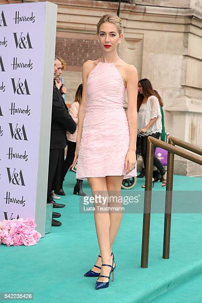 Sabine Getty arrives for the VA Summer Party at Victoria and Albert Museum on June 22 2016 in London England