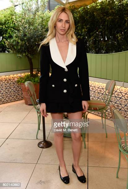 Sabine Getty attends an intimate dinner hosted by Nicky Zimmermann and Margot Robbie to celebrate the opening of the Zimmermann London Flagship store...