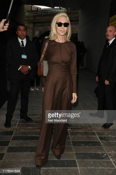 Sabine Getty attends Christopher Kane at Hawley Wharf during LFW September 2019 on September 16 2019 in London England