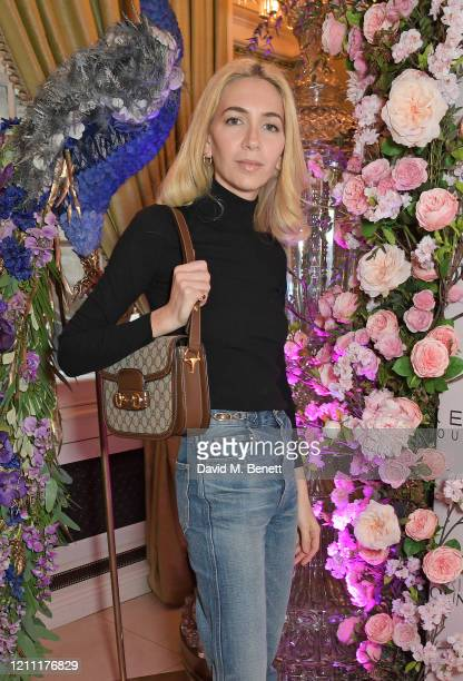 Sabine Getty attends International Women's Day for The Caring Foundation with Salma Hayek at Annabel's on March 08 2020 in London England