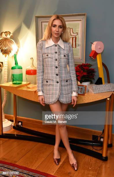 Sabine Getty attends SEMAINE x SABINE GETTY Christmas cocktail party on December 14 2017 in London England