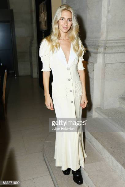 Sabine Getty attends the Atelier Swarovski By Jason Wu dinner as part of the Paris Fashion Week Womenswear Spring/Summer 2018 on September 28 2017 in...