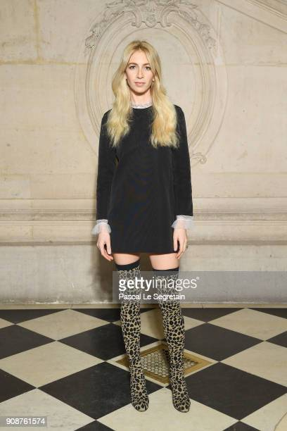 Sabine Getty attends the Christian Dior Haute Couture Spring Summer 2018 show as part of Paris Fashion Week on January 22 2018 in Paris France