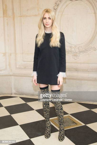 Sabine Getty attends the Christian Dior Haute Couture Spring Summer 2018 show as part of Paris Fashion Week January 22 2018 in Paris France