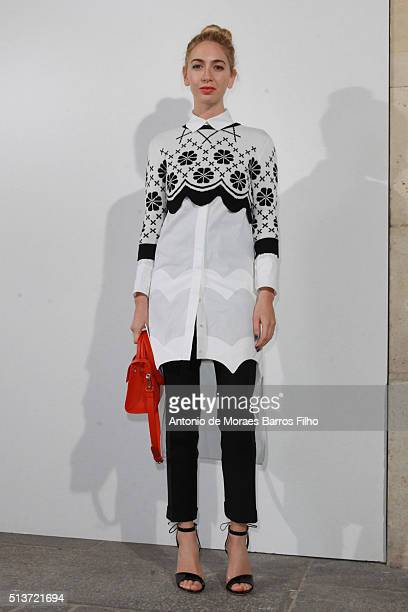 Sabine Getty attends the Christian Dior show as part of the Paris Fashion Week Womenswear Fall/Winter 2016/2017 on March 4 2016 in Paris France