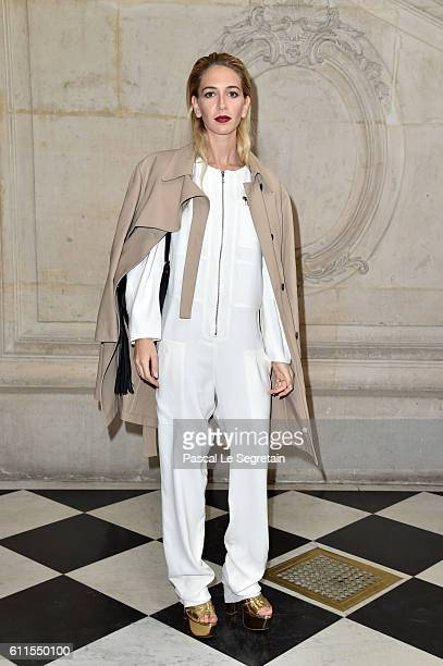 Sabine Getty attends the Christian Dior show of the Paris Fashion Week Womenswear Spring/Summer 2017 on September 30 2016 in Paris France
