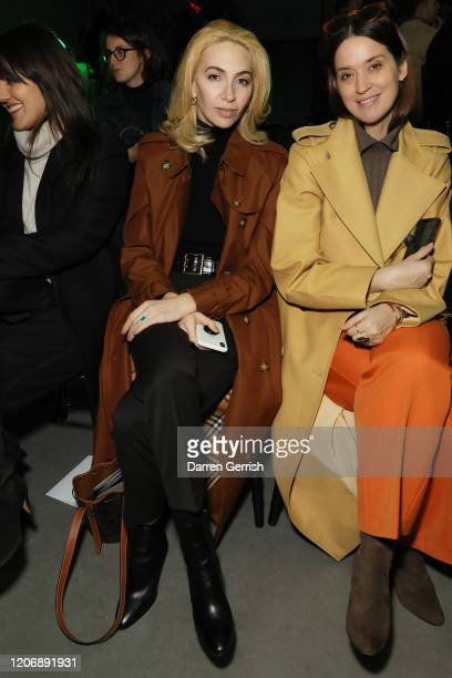 Sabine Getty attends the Christopher Kane show during London Fashion Week February 2020 on February 17 2020 in London England