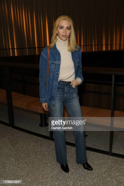 Sabine Getty attends the Emilia Wickstead show during London Fashion Week February 2020 on February 16 2020 in London England