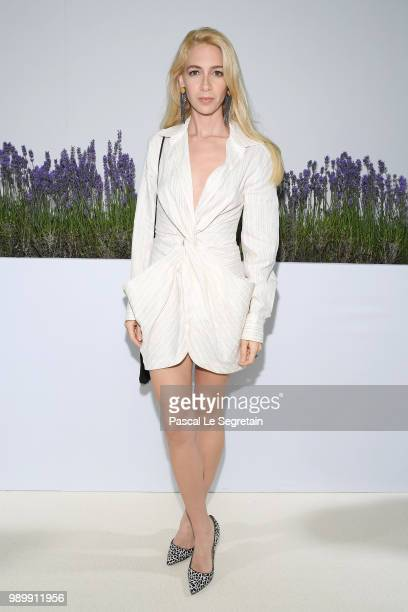 Sabine Getty attends the Giambattista Valli Haute Couture Fall Winter 2018/2019 show as part of Paris Fashion Week on July 2 2018 in Paris France