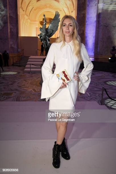 Sabine Getty attends the Giambattista Valli Haute Couture Spring Summer 2018 show as part of Paris Fashion Week on January 22 2018 in Paris France