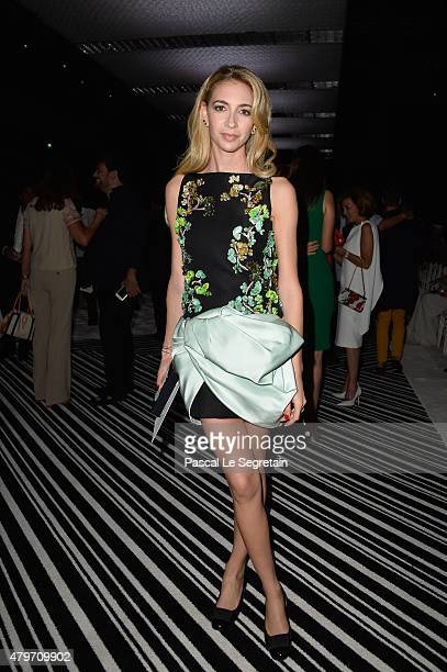 Sabine Getty attends the Giambattista Valli show as part of Paris Fashion Week Haute Couture Fall/Winter 2015/2016 on July 6 2015 in Paris France