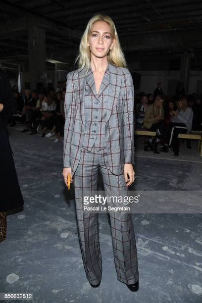Sabine Getty attends the Giambattista Valli show as part of the Paris Fashion Week Womenswear Spring/Summer 2018 on October 2 2017 in Paris France