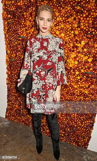Sabine Getty attends the launch of Noor Fares' new jewellery collection 'Akasha' at Lamb Gallery on November 15 2016 in London England