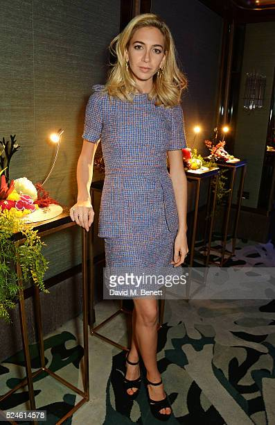 Sabine Getty attends the launch of the new Venyx Oseanyx collection hosted by Eugenie Niarchos and Lucy Yeomans at Sexy Fish on April 26 2016 in...