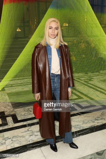 Sabine Getty attends the Roksanda show during London Fashion Week February 2020 on February 16 2020 in London England