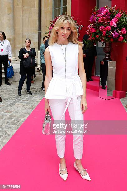 Sabine Getty attends the Schiaparelli Haute Couture Fall/Winter 20162017 show as part of Paris Fashion Week on July 4 2016 in Paris France