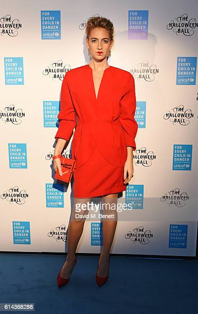 Sabine Getty attends the Unicef UK Halloween Ball raising vital funds to support Unicef's lifesaving work for Syrian children in danger at One...