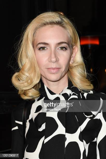 Sabine Getty attends the Valentino Haute Couture Spring/Summer 2020 show as part of Paris Fashion Week on January 22 2020 in Paris France
