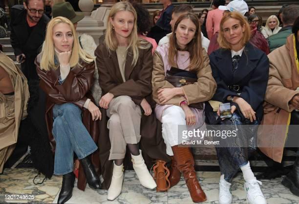 Sabine Getty Candice Lake Monica de La Villardiere and Bianca Miro attend the Roksanda show during London Fashion Week February 2020 at The British...