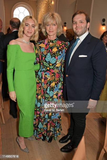Sabine Getty, Nicola Formby and Joseph Getty attend a dinner hosted by Skye Gyngell and the Trustees of Action on Addiction to celebrate Addiction...