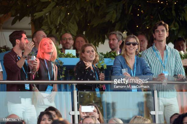 Sabine Getty Princess Beatrice of York attends Barclaycard Exclusive area at Barclaycard presents British Summer Time Hyde Park on July 05 2019 in...
