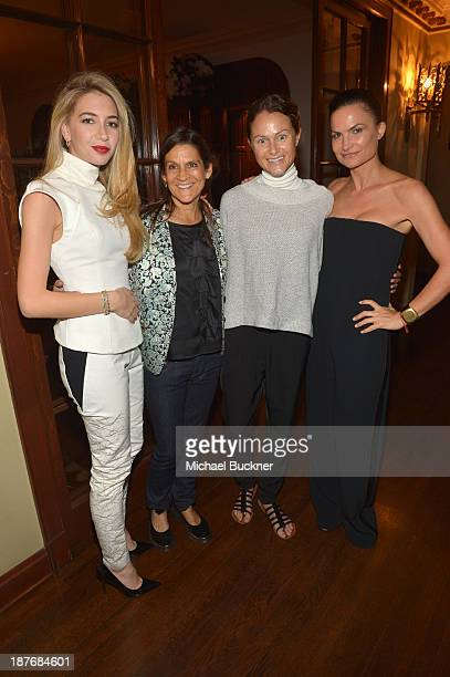 Sabine Ghanem Aileen Getty Julie Mills and Rosetta Getty attend the Sabine G Jewelry Dinner at Balthazar and Rosetta Getty's home on November 8 2013...