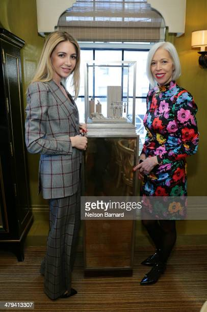 Sabine Ghanem and SVP Fashion and Store Presentation at Bergdorf Goodman Linda Fargo attend a lunch in honor of jewelry designer Sabine Ghanem hosted...