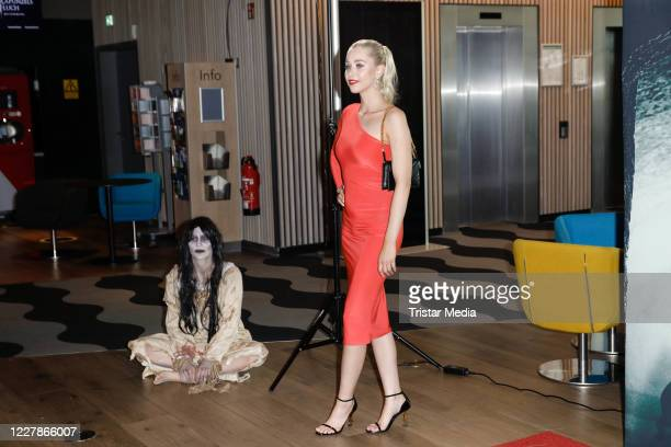 Sabine Heinen and Sophie Swan attend the photocall and premiere of the horror movie Rapunzels Fluch at UCI Luxe Mercedes Platz on July 31 2020 in...