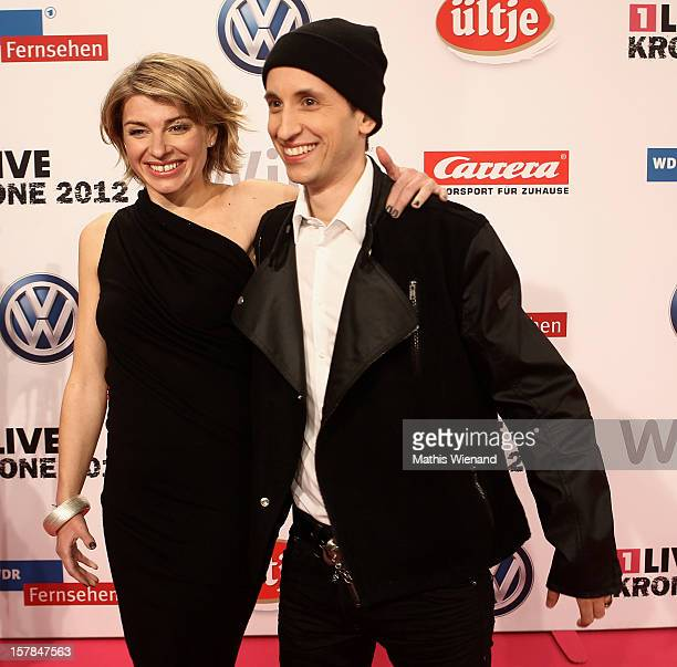 Sabine Heinrich and Chris Guse attend the '1Live Krone' at Jahrhunderthalle on December 6 2012 in Bochum Germany