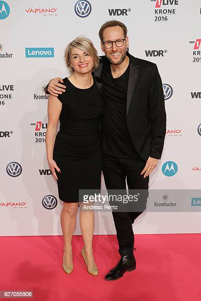 Sabine Heinrich and Guest attend the 1Live Krone at Jahrhunderthalle on December 1 2016 in Bochum Germany