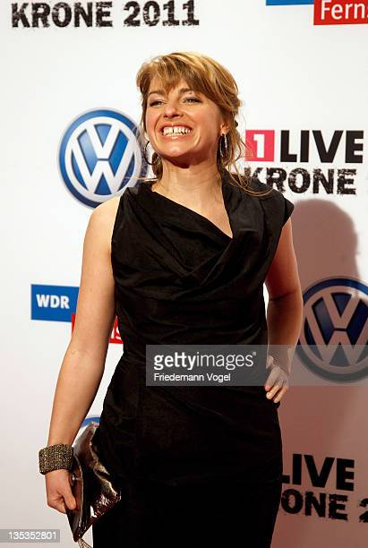 Sabine Heinrich poses during 1Live Krone at the Jahrhunderthalle on December 8 2011 in Bochum Germany