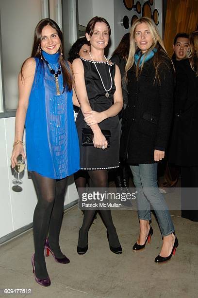 Sabine Heller Annie Churchill and Valerie Boster attend MAURICE VILLENCY Celebrates THAKOON Spring 2007 Collection at Maurice Villency on January 18...