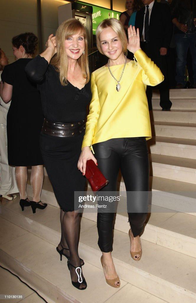 Sabine Kaack and Esther Seibt attend the 'Deutscher Hoerfilmpreis 2011' at the Atrium Deutsche Bank on March 15, 2011 in Berlin, Germany.