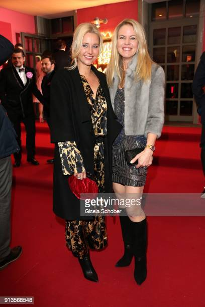 Sabine Kaefer and Anke Schaffelhuber during Michael Kaefer's 60th birthday celebration at Postpalast on February 2 2018 in Munich Germany
